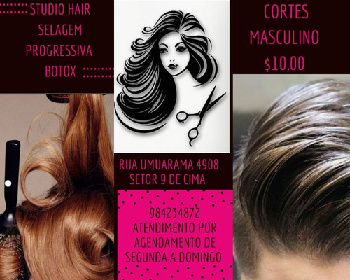 Salão De Cabeleireiro Studio Hair Atendimento Por Agendament