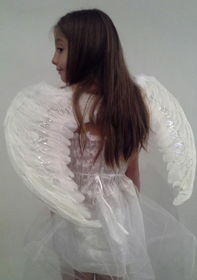 Alas De Angel De Plumas Blanca Negra 60 X 45 Cm