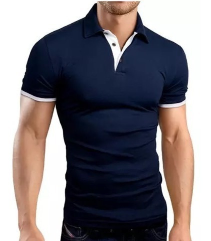 Playera Polo Hombre Slim Fit Manga Corta Moda Casual