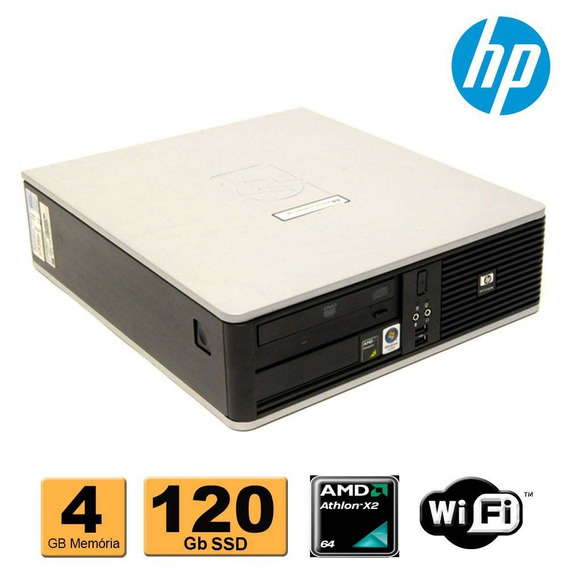 Cpu Hp Compaq Dc5850 Amd Athlon X2 4gb Ssd 120gb Wifi