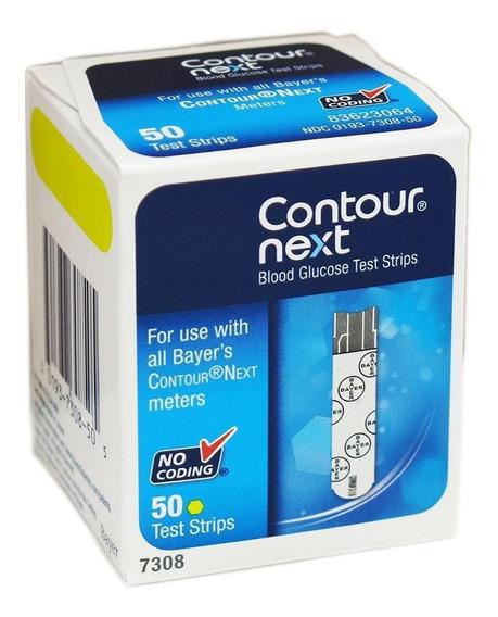 50 Tirillas Para Bayer Contour Diabetico, Glucometro