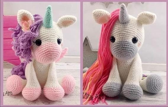 Patrón Crochet Amigurumi Unicornios 2x1 Inglés