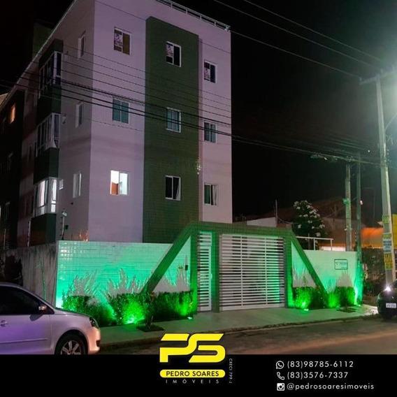 ( M O B I L I A D O ) Apartamento Com 2 Dormitórios À Venda, 70 M² Por R$ 350.000 - Ponta De Campina - Cabedelo/pb - Ap3126