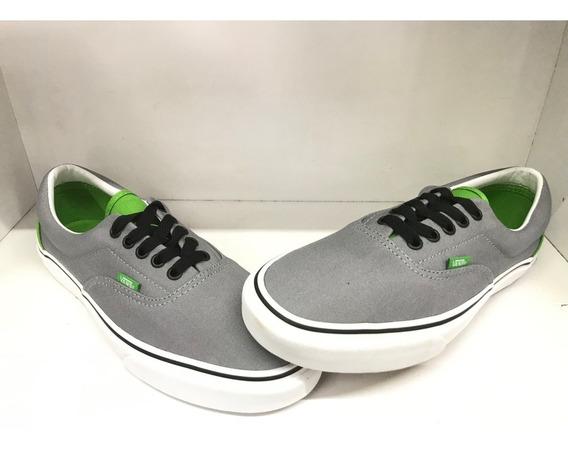 Tenis Vans Canvas Color Gris/verde Nuevos Sin Caja