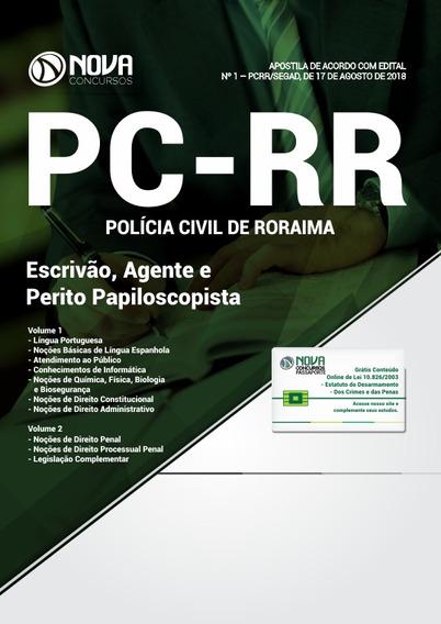 Apostila Pc-rr 2018 - Escrivão, Agente Perito Papiloscopista