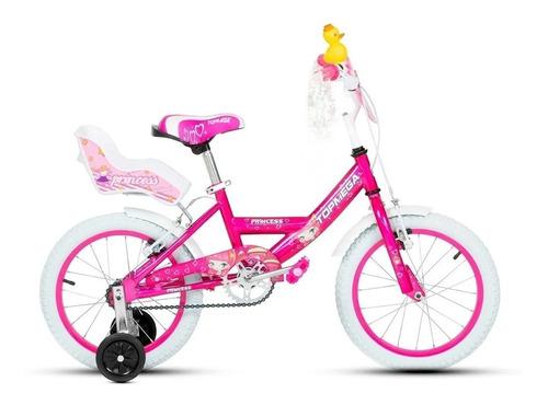 Bicicleta femenina infantil TopMega Kids Princess R16 frenos v-brakes color rosa