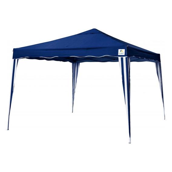 Tenda Gazebo Dobrável 3x3m Poliéster Em Alumínio Belfix Azul