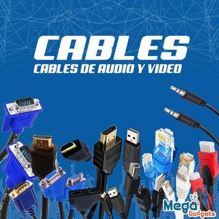 Cables Hdmi A Vga Audio Adaptadores Video Usb Utp Red Pc