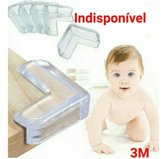 Kit 4 Protetores De Canto Quina Cantoneira 3m Para Bebê