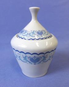 Açucareiro Porcelana Pozzani - Decoração Em Azul