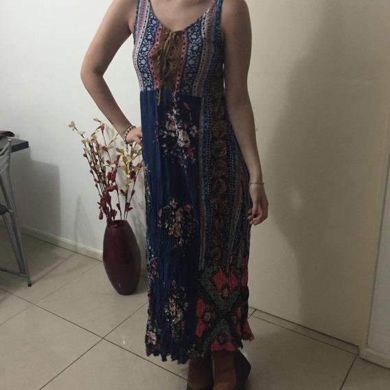 Vestido Largo Estampado Para Mujer