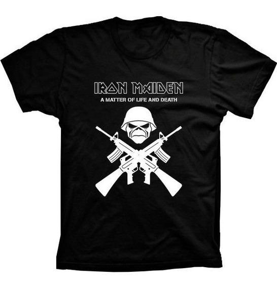 Camiseta Iron Maiden Vários Tams. Plus Size G1 G2 G3 G4