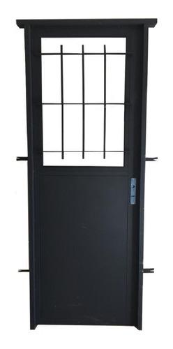 Puerta De Chapa Calibre 20 Con Vidrio Fijo