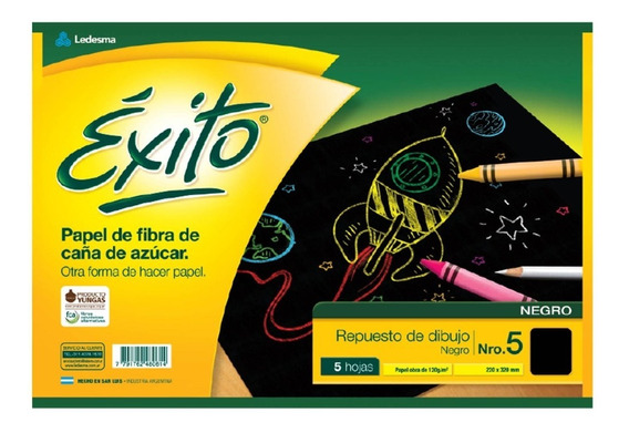 Repuesto Exito Dibujo Tamaño N5 5 Hojas Canson X25 Unidades
