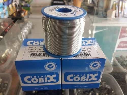 Solda Cobix Rolo 500g Estanho 0.5mm Estanho Solda Em Fio
