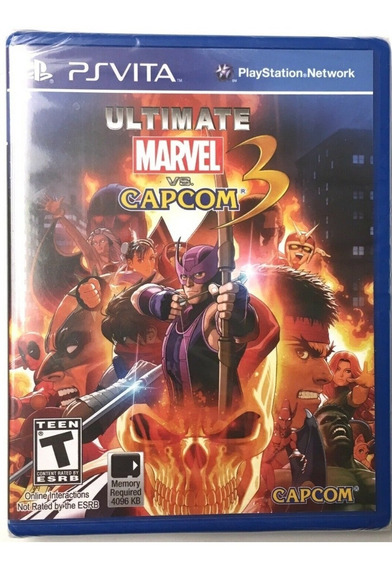 Lacrado Ultimate Marvel Vs Capcom 3 Ps Vita Jogo Novo Luta