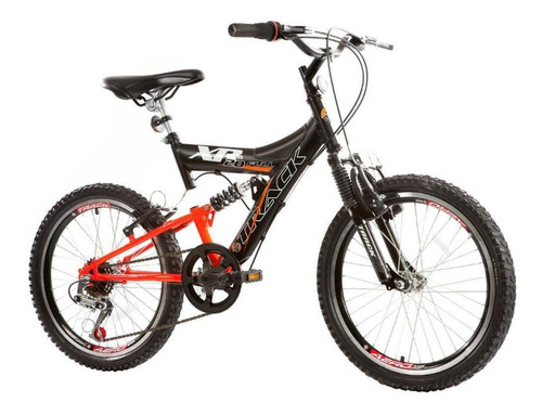 Bicicleta Track Bikes Xr 20 Full 6 Marchas Aro 20 Suspensão