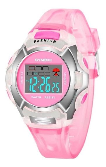 Relógio De Pulso Infantil Digital Led A Prova Dágua