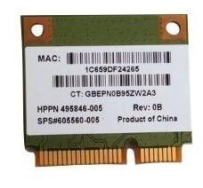 Mini Pci-e Wireless Atheros Ar5b95 495846-005