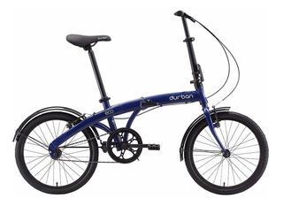 Bicicleta Dobrável Durban Eco - Azul - Bike - Prático