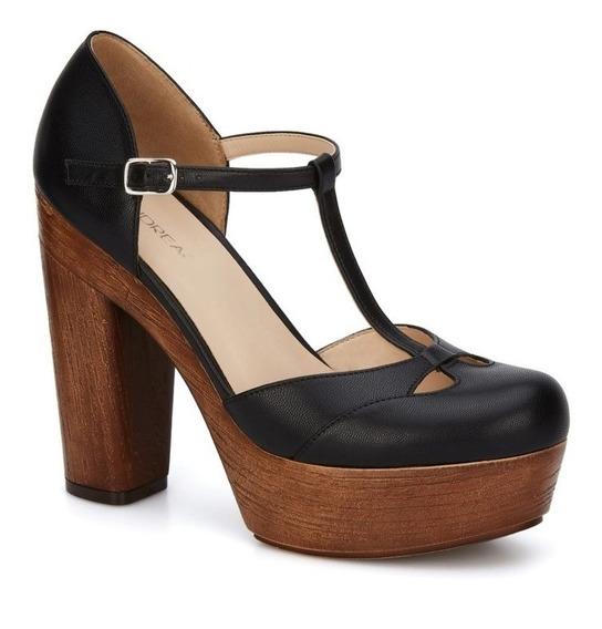 Zapatillas Andrea Con Plataforma Tipo Madera Oferta 2597