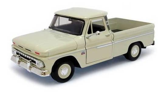 1966 Chevrolet C10 Pickup Creme - Escala 1:24 - Motormax