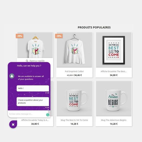 Módulo Chat Online Para Prestashop 1.6x 1.7x