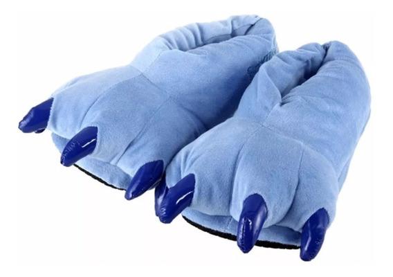 Pantufa Azul Stitch Garras Pelúcia Kigurumi Pronta Entrega