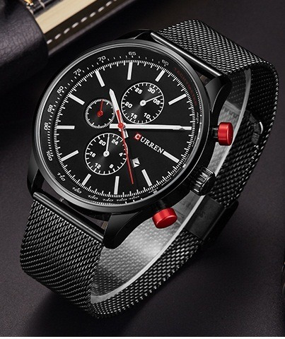 Relógio Masculino Curren Fino Quartz Japonês Luxuosso