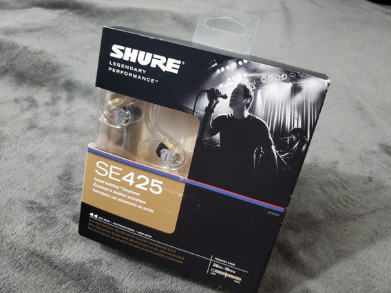 Shure Se425 Fone Intra Auricular In Ear Monitor Original