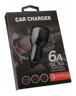 Carregador Veicular Car Charge 6.0a 2usb Qualcomm 3.0
