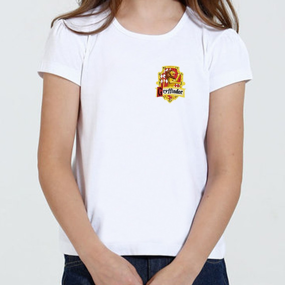 Camiseta Camisa Infantil Feminina - Harry Potter Grifinoria