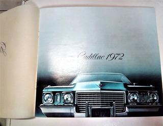 Folleto Cadillac 1972 Catalogo De Venta