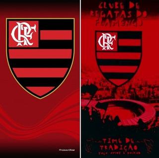 Total! 02 Toalhas Banho/praia Futebol Flamengo Oficial