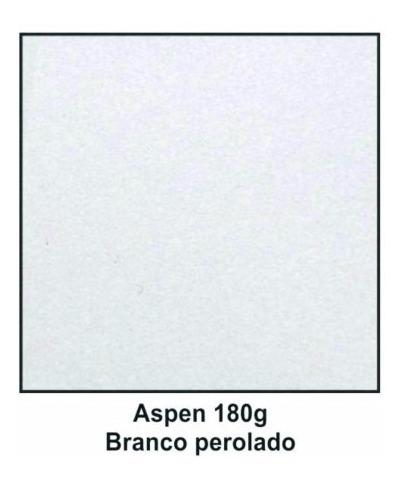 Papel Para Convites Branco Perolado Aspen 180g A4 80 Fls