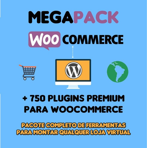 Imagem 1 de 1 de Mega Pack Woocommerce Full