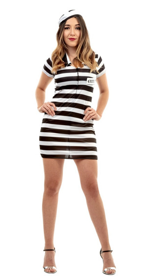 Disfraz Lady Prisionera Halloween Carcel Presidiaria Talla M