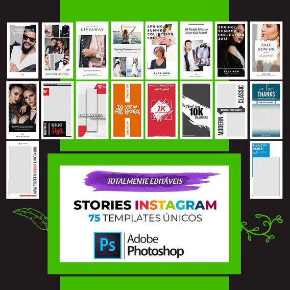 75 Stories Editáveis Para Instagram (photoshop Psd)