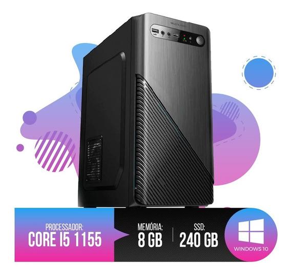 Desktop Pc I5 1155 8gb Ram, Hd Ssd 240gb, Até 12x S/ Juros!!