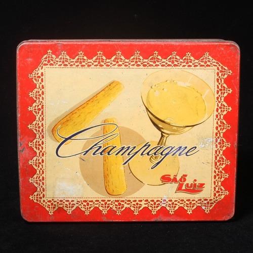 Lata Litografada Dos Biscoitos Champagne São Luiz