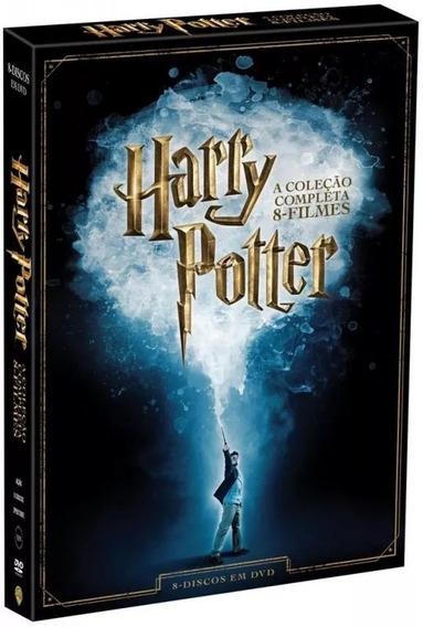 Box Dvd Harry Potter Coleção Completa 8 Filmes - Lacrado