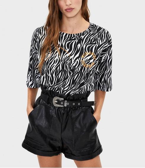 Short Polipiel Negro Incluye Cinturon Trendy Urbano Sexy