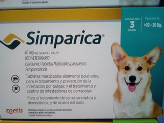 Simparica, Desparasitante Externo 10-20kg Tableta Masticable