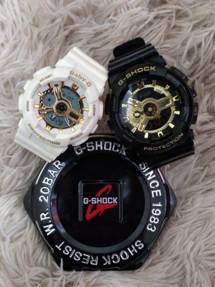 Relógio Importado Casal Gshóks Homen E Mulher Super Oferta