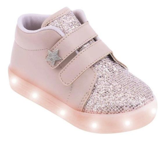 Tênis Feminino Pimpolho Com Led Glitter - 33483