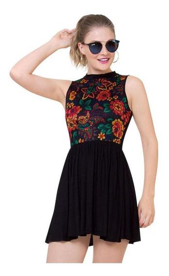 Vestido Ti Amo Mujer Negro Spandex 399
