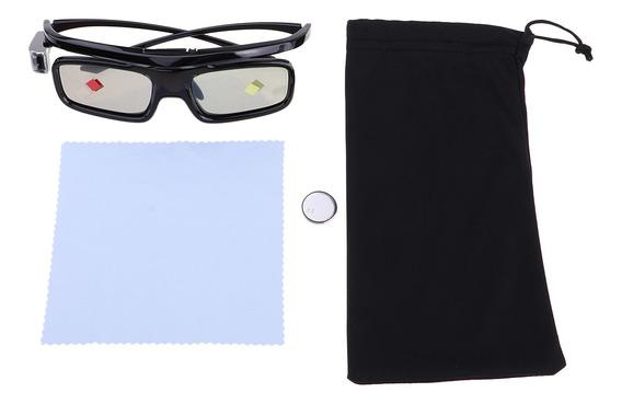 Óculos Persiana Ativo Bluetooth 3d Recarregável Para Dlp -