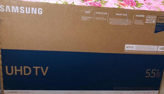 Tv Samsung 55 Tela Trincada Nunca Usada Quebrou Ao Instalar