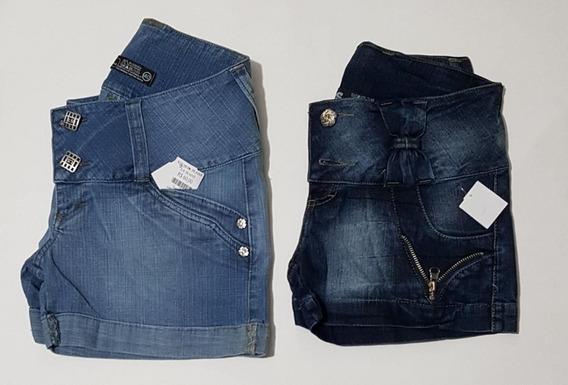 Lote Kit 5 Shorts Jeans Feminina Cintura Baixa Ponta D Estq