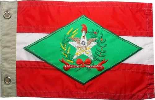 Bandeira De Santa Catarina Para Moto Bordada Dupla Face